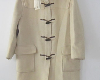 Vintage Gloverall duffle coat beige Made in England 12