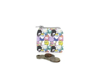 Adventure Time Coin Pouch / Tiny Jake and Finn Bag / Geeky Gift