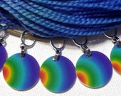 RAINBOW stitch markers for KNITTERS or CROCHETERS