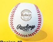 Custom Personalized Engraved Baseball, Groomsmen, Ring Bearer, Birthday, Christmas Gift, Keepsake, Baby Announcement