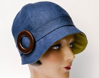 "Women's Linen Cloche Hat - ""Design Your Own"" Cloche Hat - Made to Order"