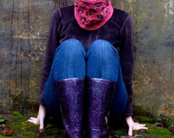 KNITTING PATTERN- Facet Cowl Neckwarmer PDF Download