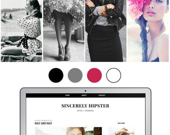 Mobile Responsive Blogger Template | Premade Blogger Template | Blog Design Sincerely Hipster