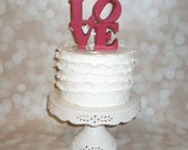 Scottsdale LOVE Wedding Cake Topper  featured in several magazines -standard color
