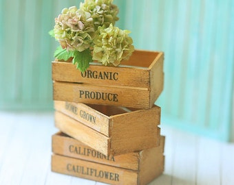 Dollhouse Accessories - Vintage Wooden Crates