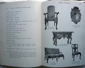 History of Interior Decorating Styles -Outline of the Home Furnishing Periods- Prehistoric to 1940s Decor Photos HC Furniture Reference Book