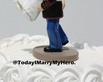 USMC Military Marine Corps Rescue Carry Bride Wedding Cake Topper Hero