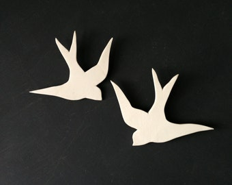 Best friends fly together Wall art Swallows Porcelain birds Bathroom Bedroom Living room Kitchen wall decor Wedding Engagement Friends gift