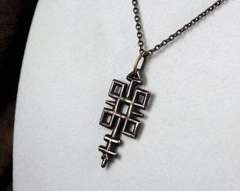Quincunx -- Bronze Pendant