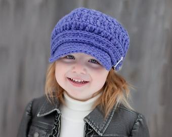 5 Sizes Purple Newsboy Hat Baby Newsboy Cap Toddler Newsboy Girls Newsboy Womens Newsboy Baby Girl Hat Toddler Girl Hat Baby Hat Toddler Hat