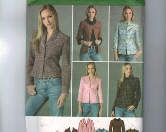 Misses Sewing Pattern Simplicity 4363 Missses Fitted Princess Seam Jacket Blazer Size 14 16 18 20 22 Bust 36 38 40 42 44 UNCUT  99