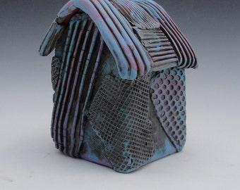 Meditation Prayer House Ceramic Sculpture Textured Handmade  My second Home