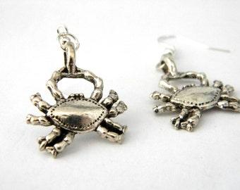 Silver Crab Earrings Dangle Earrings Silver Color