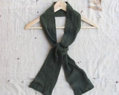 vintage c. 1970s US Army issue cotton net scarf (your choice - olive drab, black, nude)