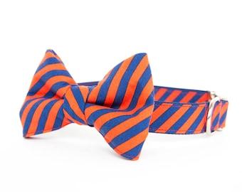 Bowtie Dog Collar - Puppy Prep Stripe