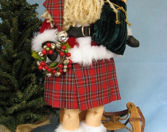 Cloth Doll E-Pattern 22 inch Celtic Santa Doll Epattern