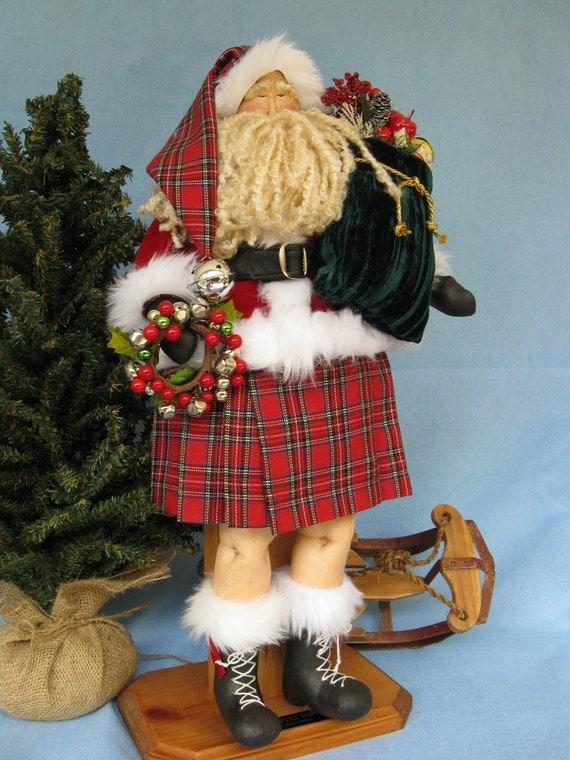 Cloth Doll E-Pattern 22 inch Celtic Santa Doll Epattern