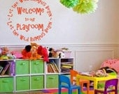 Welcome to our Playroom Vinyl Lettering Wall Art In Words Decal