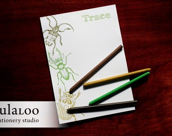 Beetles and Bugs Personalized Notepad