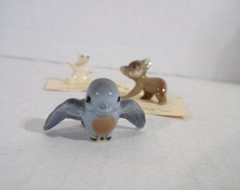 Vintage Hagen Renaker Tweetie Bird Figurine..Miniature Bird Figurine..Little Blue Bird Figurine..Blue Bird of Happiness