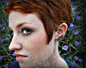 Serpentine Ear Cuff  Wrap earring in Oxidized Copper