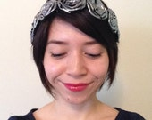 Metallic Rosette Hair Crown