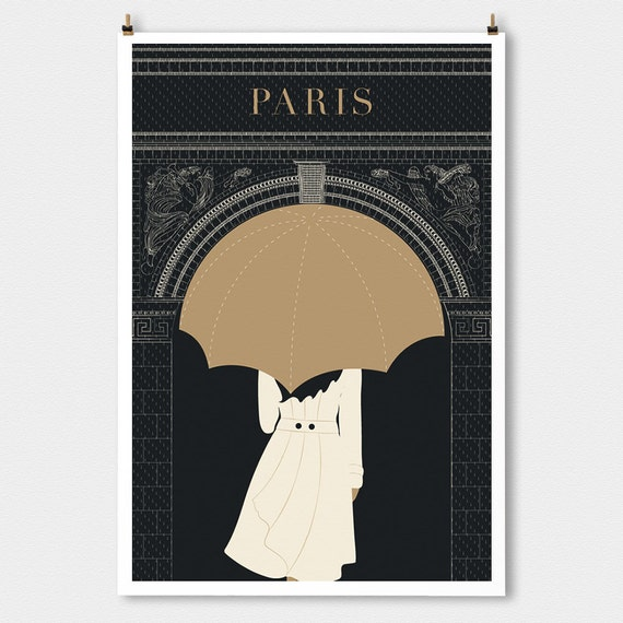 "Paris decor, ""Arc"" Minimalist Modern art print, Art Deco Poster Print, Large Wall Art Print, Travel Gift, Living Room Art Gift for Her"
