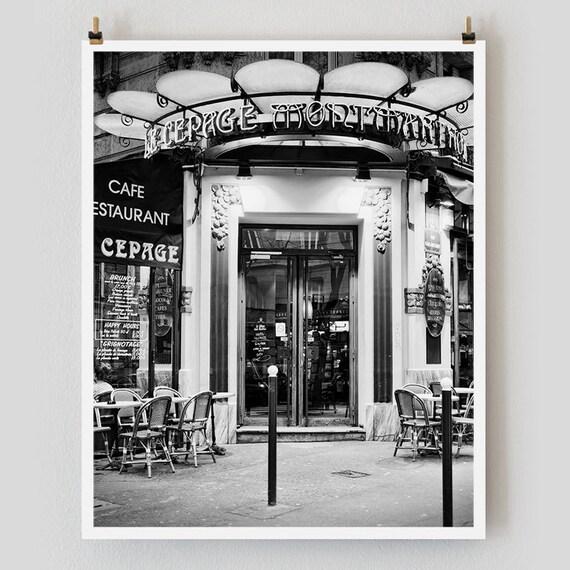 """Paris Print, Black and White Photography, """"Paris Noir 15"""" Extra Large Wall Art, Fine Art Print Paris Photography, Film Noir"""
