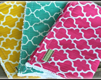Chenille Burp cloth trio