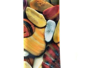 "SILK SCARF - ""Carolina Beach"" Fine Art Beach Shells Image on Habotai Silk - 14"" x 72"" - wearable art by Kathe LeSage"