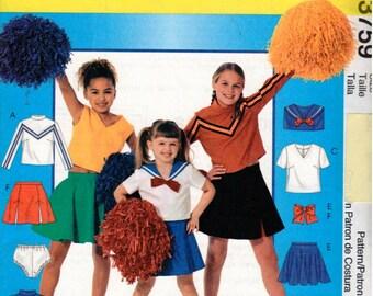 McCall's UNCUT Costume Pattern 3759 Children's Cheerleader Costumes 3-5