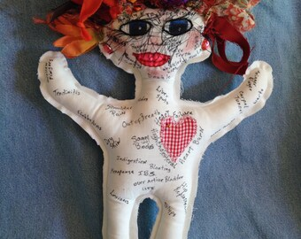 Ache and Pain Doll Perfect for birthdays, retirements, nurse, doctor, lawyer, senior citizen, milestone dates, personalize, or save yours...