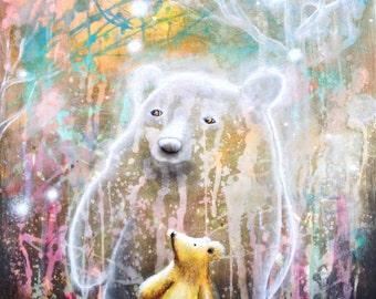 Bear Print -  Bear Art -  Surreal Art -  Fine Art Print