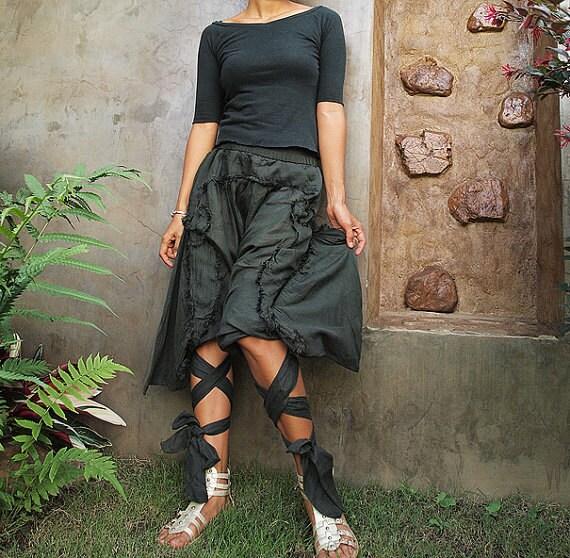 Swirl Funky harem pants...Mix silk available in all color /Funky pants /hippie pants / long pants / carpi pants/  (3 sizes M,L,XL)
