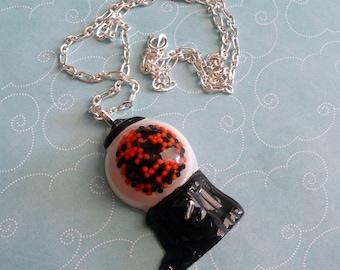 Halloween Gumball Machine Resin Necklace