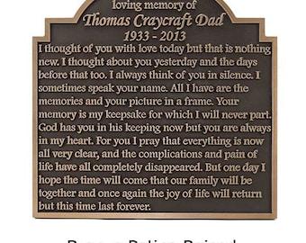 Garden Memorial Memory Plaque 20 x 20 inches