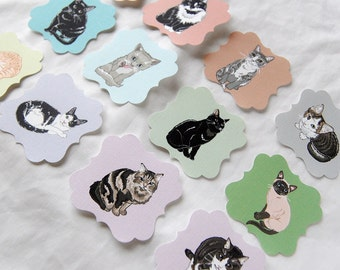 Cat Die Cut Collection - Eco-friendly Set of 12 - Scrapbooking Embellishment