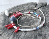 Beaded Necklace - Coral and Beads