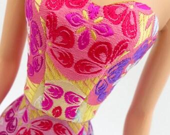 Barbie Dress - Silkstone Sheath, Pure Silk - Arabesque