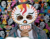Dia De Los Muertos Day of the Dead, Mexican Holiday, sugar skulls, calavera PHOTO BOOTH PROPS >> shipped to you <<