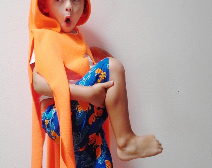 Featured listing image: Orange Octopus Cape, Halloween Costume or Dress Up Cape