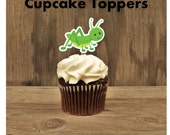 Bug Party - Set of 12 Bug's Life Grasshopper Cupcake Toppers by The Birthday House