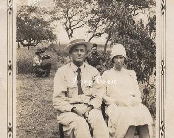 Flapper Couple Vintage Photo.  Digital Download Ephemera.
