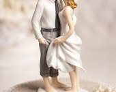 Beach Get Away Cake Topper Figurine - Custom Painted Hair Color Available - 707543