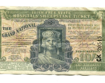 Irish Sweepstakes Ticket from 1937