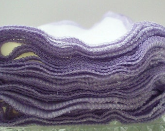 Petite Lavender Birds Eye Towels - Eco Friendly Facial Tissue Baby Wipe Replacement
