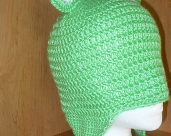 0-6 month Frog Hopping Hat with Earflaps