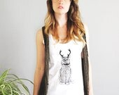ON SALE, The Original Wild Catalope, cat tank, cat clothing, cat tank top, cat with antlers, cat lovers, cat gift for her, christmas cat