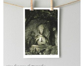 Green Buddha Art, Bohemian Decor, Zen Decor, Spiritual Art, Buddha Photography, Boho Wall Art, Meditation Art, Buddha Wall Art, Buddha Print