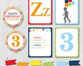 Dick and Jane Birthday, ABC Alphabet Custom Silhouette DIY Party Collection Party Kit